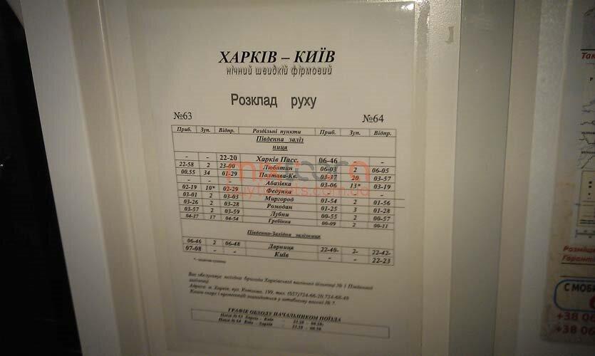 Фотографии поезда Харьков